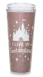 Disney Travel Tumbler - I Live in Fantasyland - Briar Rose Gold