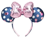 Disney Ears Headband - Minnie Mouse Polka Dot - Blue & Pink