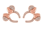 Disney Rebecca Hook Earrings - Minnie Mouse Bow - Rose Gold