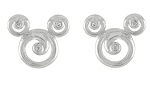 Disney Rebecca Hook Earrings - Mickey Mouse Swirl Icon