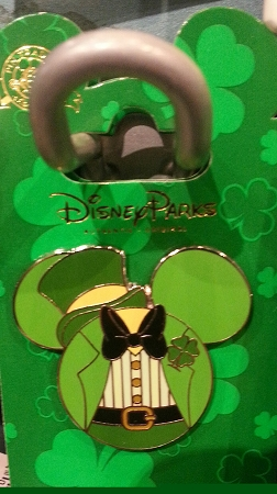 Disney St. Patrick's Day Pin - Mickey Mouse Icon