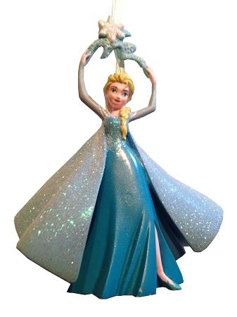 - Disney Christmas Ornament - Elsa Holding Snowflake - Frozen