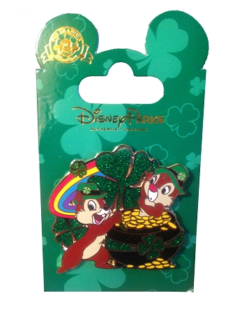 disney st patrick s day pin chip n dale pot of gold