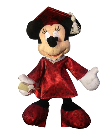 Disney Plush - Graduation -  Minnie Mouse - Class of 2015