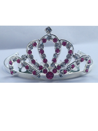 Disney Haircomb - Princess Tiara Barrette -  Pink