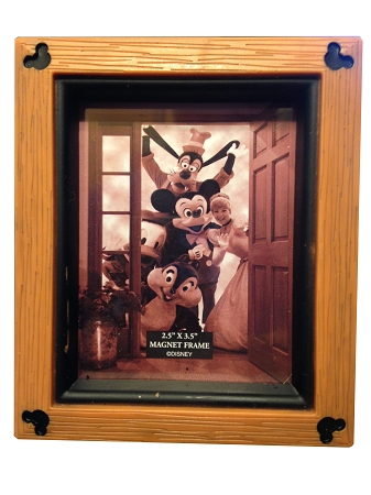 Disney Photo Frame Magnet - Mickey Mouse Icons - Wood