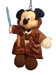 Disney Keychain Keyring - Mickey Jedi Plush - Star Wars