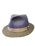 Disney Hat - Fedora Hat - Mickey Mouse Band - Blue Wicker