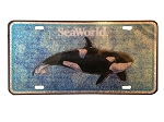 Sea World License Plate - Shamu - Logo