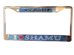 Sea World License Plate Frame - I Love Shamu - Logo