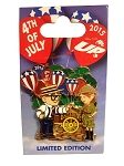 Disney 4th of July Pin - 2015 Carl and Ellie - UP