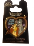 Disney Lady and the Tramp Pin - 60th Anniversary
