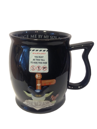 Disney Coffee Cup Mug - Star Wars - Judge me by my Size - Gold Logo