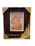 Disney Photo Frame - Two Toned Etched Cinderella Castle - 5 x 7