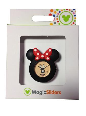 Disney Magic Band Magic Sliders Minnie Mouse Clock Watch