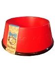 Disney Tails Dog Bowl - Mickey Mouse Icons - Red
