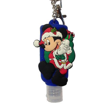 Disney Keychain - Hand Sanitizer - Santa Mickey - Christmas