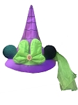 Disney Halloween Hat -  Minnie Mouse Witch with Ears - Spiderweb