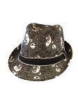 Disney Hat - Fedora Hat - Jack Skellington - Zipper Hatband