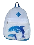 Sea World Backpack Bag - Dolphin with Baby - White