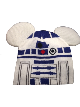 bbb2446b692f7 Disney Hat - Beanie Hat - R2-D2 with Mickey Ears - Youth