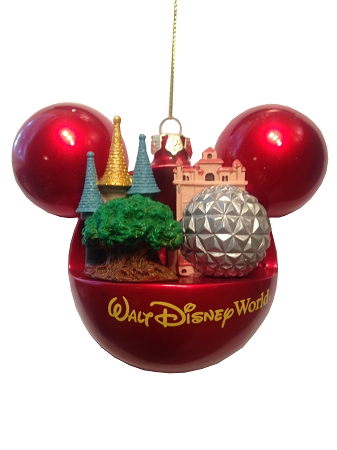 disney christmas ornament four parks one world hollywood tower