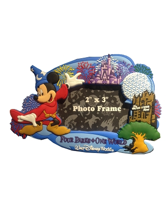 Disney Photo Frame Magnet Four Parks One World Mickey Mouse