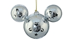 Disney Mickey Ears Icon Ornament - Mickey Mouse Metal Bell - Silver