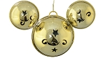 Disney Mickey Ears Icon Ornament - Mickey Mouse Metal Bell - Gold