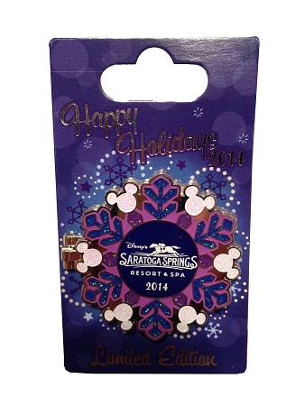 Disney Holidays Resort Pin - 2014 Saratoga Springs Resort