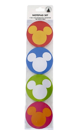 Disney Notepad Set - Mickey Mouse Square and Circle - 4 Piece Set