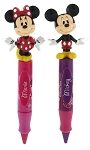 Disney Novelty Pen Set - Mickey and Minnie Mouse Kiss - Set of 2