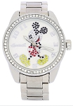 Disney Wrist Watch for Women - Mickey Rhinestone Bezel Link