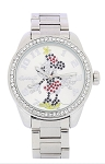 Disney Wrist Watch for Women - Minnie Rhinestone Bezel Link