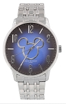 Disney Wrist Watch for Men - Mickey Icon Silver Link by Sutton