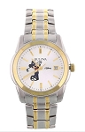 Disney Wrist Watch for Men - Bulova - Golf Mickey - Two-Tone