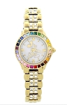 Disney Wrist Watch for Women - Mickey Rainbow Bezel by Sutton