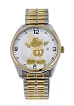Disney Wrist Watch for Men - Mickey Mouse Expandable - Silver/Gold
