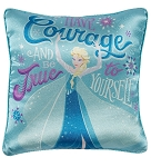 Disney Throw Pillow - Elsa - Courage and True to Yourself