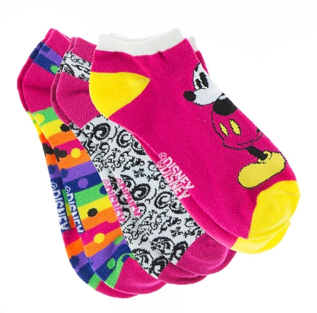 Disney Socks for Women - Mickey Mouse Fun - Disney World - 3 Pack