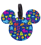Disney Luggage Bag Tag - TAG - Character Icons - Blue