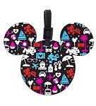 Disney Luggage Bag Tag - TAG - Character Icons - Black