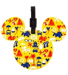 Disney Luggage Bag Tag - TAG - Character Icons - Yellow