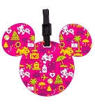 Disney Luggage Bag Tag - TAG - Character Icons - Pink