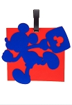 Disney Luggage Bag Tag - TAG - Mickey Mouse - Square