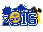 Disney Photo Frame Magnet - 2016 Graduation - Class of 2016