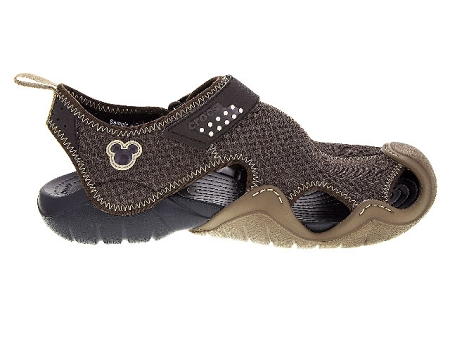 4f284ef552c Add to My Lists. Disney Swiftwater Crocs for Men - Mickey Mouse Icon - Brown  & Black