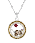 Disney Necklace - Belle Floating Charms