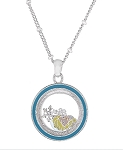 Disney Necklace - Queen Elsa Floating Charms