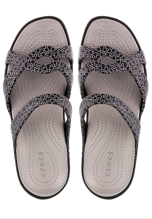 Disney Women Sandals - Crocs - Mickey Mellen - Black and White